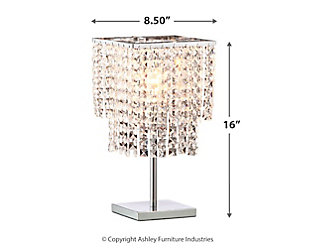 Falling Stars Floating Crystal Table Lamp, , large