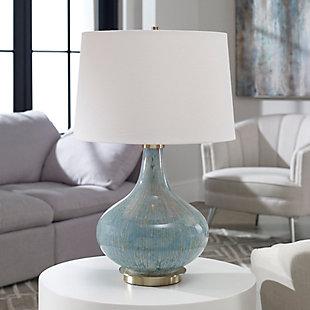 Uttermost Celinda Blue Gray Glass Lamp, , rollover