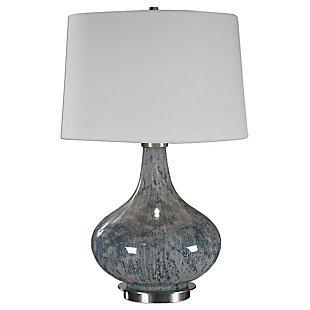 Uttermost Celinda Blue Gray Glass Lamp, , large
