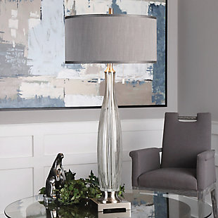 Uttermost Coloma Gray Glass Table Lamp, , rollover