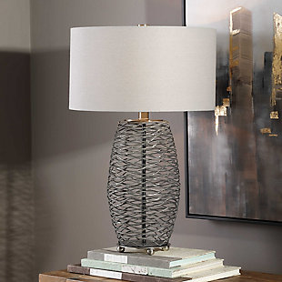 Uttermost Sinuous Wavy Steel Mesh Lamp, , rollover