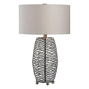 Uttermost Sinuous Wavy Steel Mesh Lamp, , large