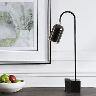 Uttermost Umbra Black Nickel Desk Lamp, , rollover