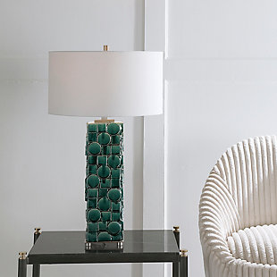 Uttermost Geometry Green Table Lamp, , rollover