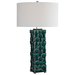 Uttermost Geometry Green Table Lamp, , large