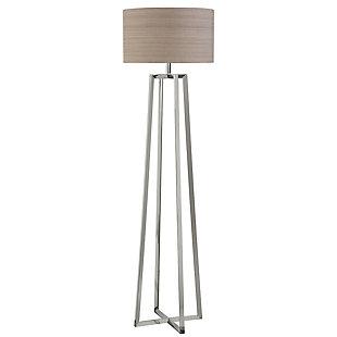 Uttermost Keokee Polished Nickel Floor Lamp, , large