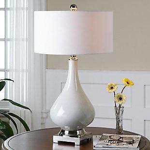 Uttermost Helton White Table Lamp, , rollover