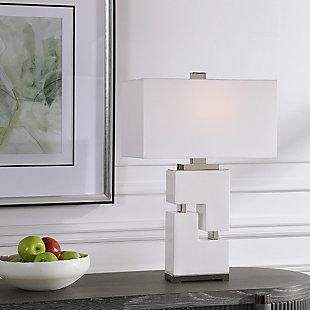 Uttermost Tetris White Table Lamp, , rollover
