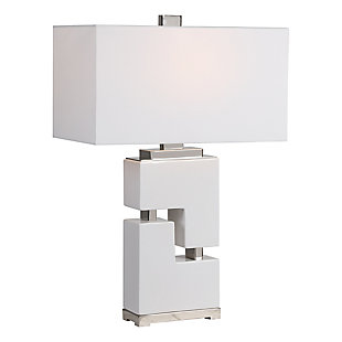 Uttermost Tetris White Table Lamp, , large