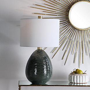Uttermost Arikara Dark Teal Table Lamp, , rollover
