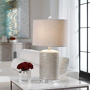 Uttermost Modica Taupe Ceramic Lamp, , rollover