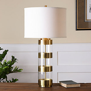 Uttermost Angora Brushed Brass Table Lamp, , rollover