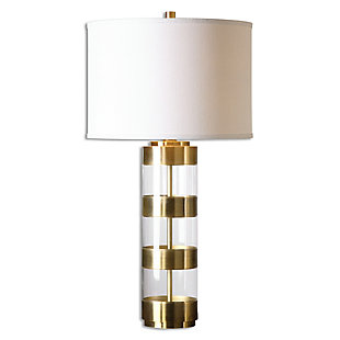 Uttermost Angora Brushed Brass Table Lamp, , large