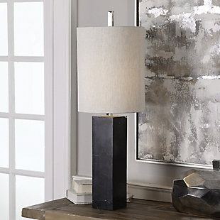 Uttermost Delaney Marble Column Accent Lamp, , rollover