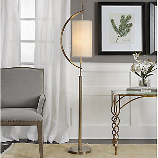 Uttermost Balaour Antique Brass Floor Lamp, , rollover