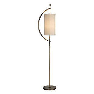 Uttermost Balaour Antique Brass Floor Lamp, , large