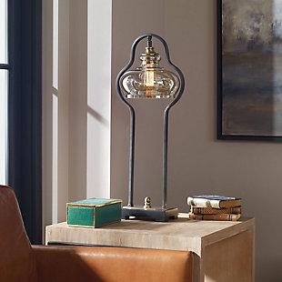 Uttermost Cotulla Aged Black Desk Lamp, , rollover