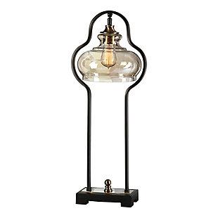 Uttermost Cotulla Aged Black Desk Lamp, , large