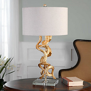 Uttermost Twisted Vines Gold Table Lamp, , rollover