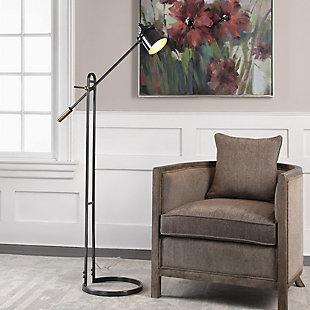 Uttermost Chisum Dark Bronze Floor Lamp, , rollover