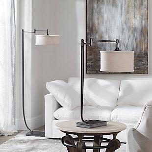 Uttermost Lamine Dark Bronze Desk Lamp, , rollover