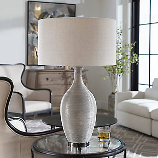 Uttermost Dinah Gray Textured Table Lamp, , rollover