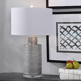 Uttermost Anitra Metallic Silver Table Lamp, , rollover