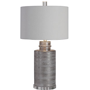 Uttermost Anitra Metallic Silver Table Lamp, , large