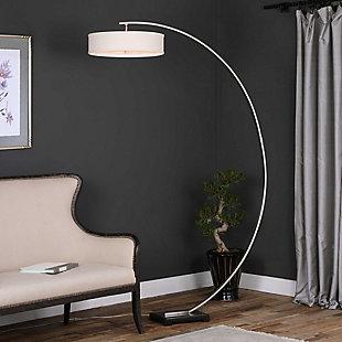 Uttermost Tagus Nickel Arc Floor Lamp, , rollover