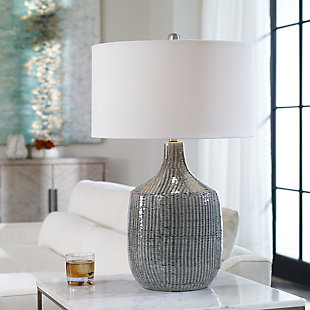 Uttermost Felipe Distressed Gray Table Lamp, , rollover