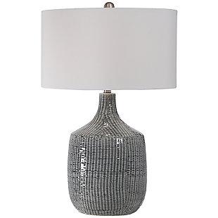 Uttermost Felipe Distressed Gray Table Lamp, , large