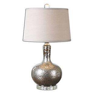 Uttermost Aemilius Gray Glass Table Lamp, , large