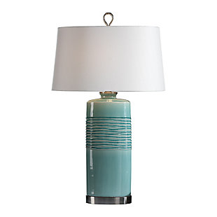 Uttermost Rila Distressed Teal Table Lamp, , large