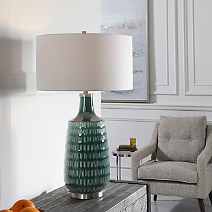 Uttermost Scouts Deep Green Table Lamp, , rollover