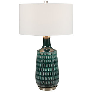 Uttermost Scouts Deep Green Table Lamp, , large