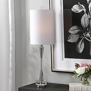 Uttermost Azaria Polished Nickel Buffet Lamp, , rollover