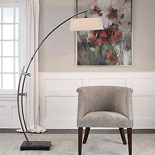 Uttermost Calogero Bronze Arc Floor Lamp, , rollover
