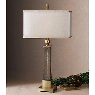 Uttermost Caecilia Amber Glass Table Lamp, , rollover