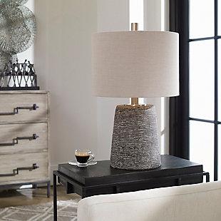 Uttermost Duron Bronze Ceramic Lamp, , rollover