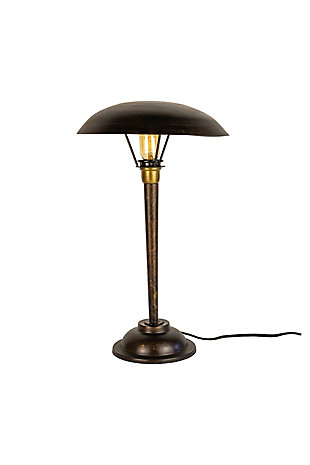 Kalalou Antique Black Table Lamp with Dome Shade, , large