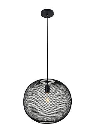 Living District Keller 1 Light Black Pendant, , large