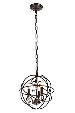 Living District Wallace 3 Light Dark Copper Brown Pendant, , large