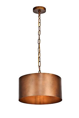 Living District Miro 1 Light Brass Pendant, Manual Brass, large