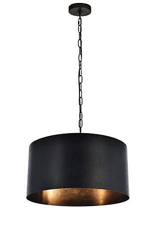 Living District Miro 3 Light Vintage Black Pendant, Vintage Black, large