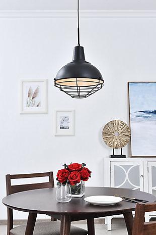 Living District Gibil 1 Light Black Pendant, , rollover
