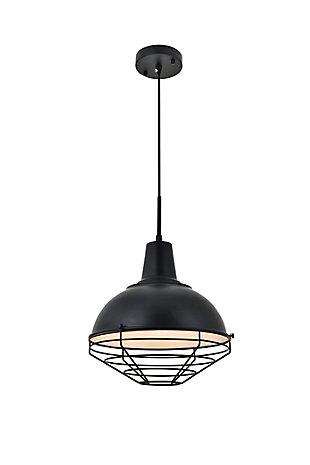Living District Gibil 1 Light Black Pendant, , large