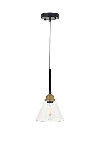 Living District Histoire 1 Light Brass And Black Pendant, , large