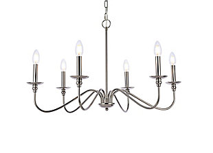 Living District Rohan 30 Inch Chandelier In Polished Nickel, Polished Nickel, large