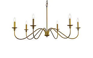 Living District Rohan 42 Inch Chandelier In Brass, Brass, large