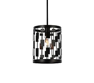 Living District Levante 1 Light Pendant In Black, Black, large